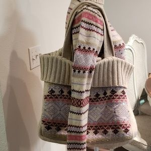Kookai sweater and matching bag